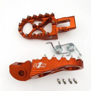 NINE1METAL FOOT PEGS ORANGE