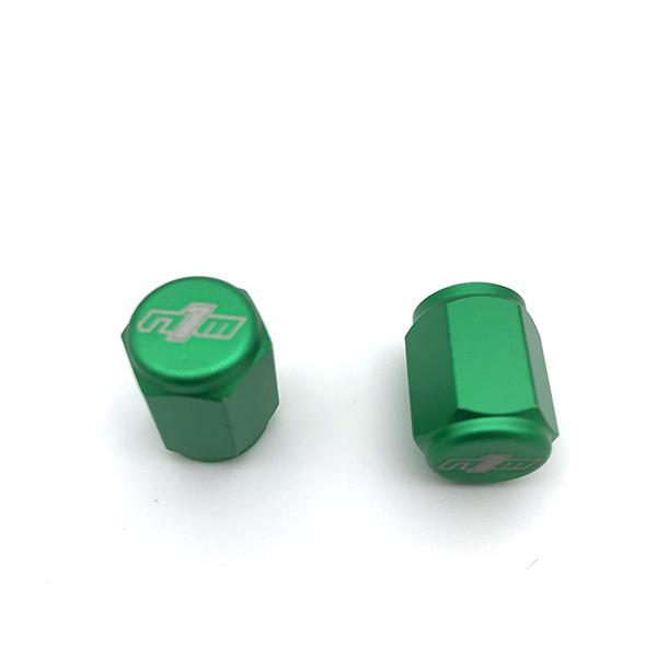 NINE1METAL VALVE CAP GREEN